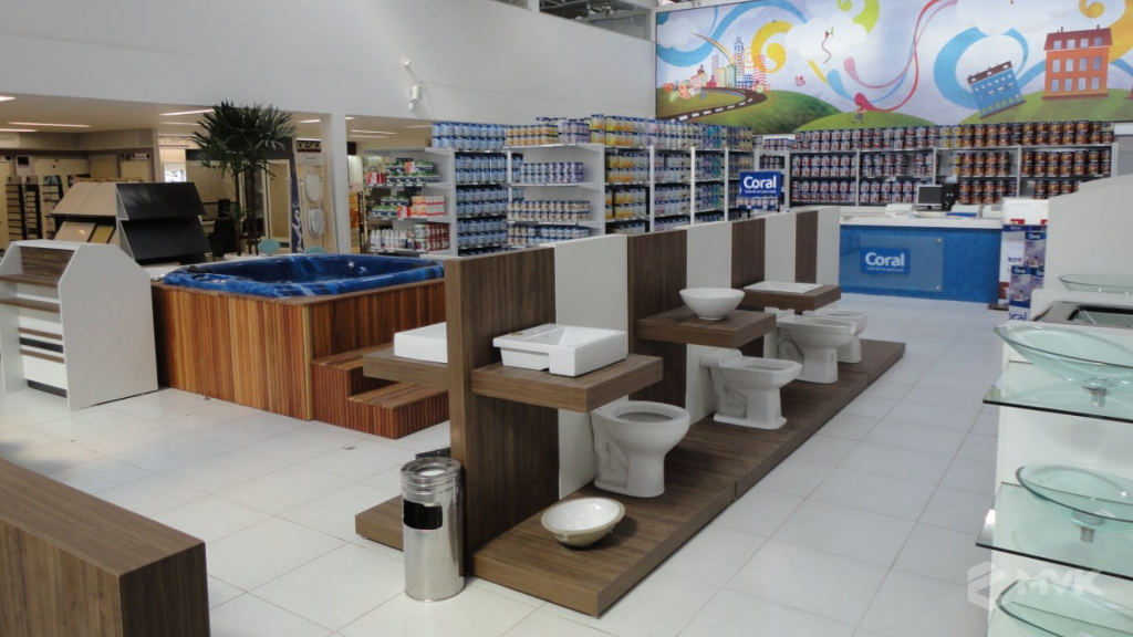 Casa Auxiliadora loja de material para construção em Varginha MG. Projeto e execução de MVK Gôndolas e Displays. Expositores, PDV, balcões. www.mvk.com.br (9)
