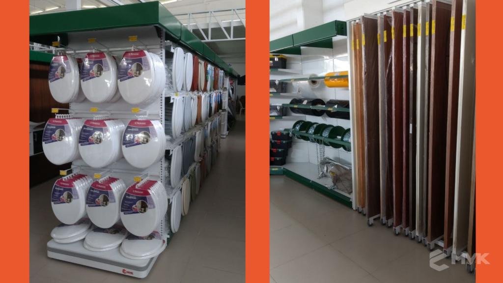 Loja de Material de Construção Bezerra em Recife Pernambuco. Expositor para cerâmica. Expositor para vaso sanitário. MVK Gôndolas e displays para lojas (12)