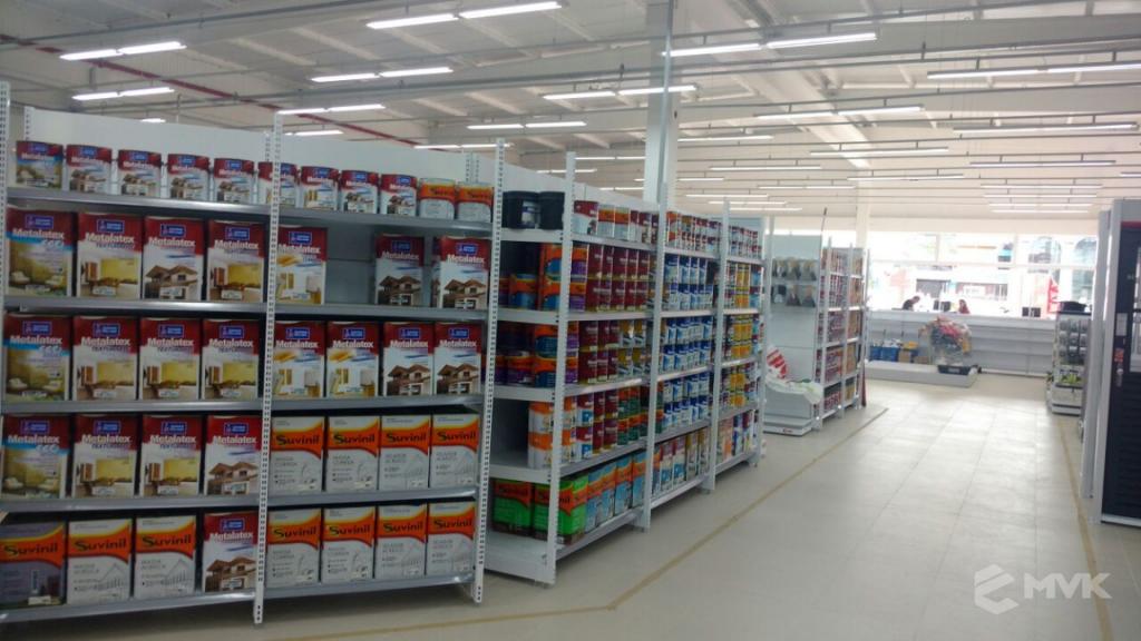 Loja de Material de Construção e Home Center Breithaup em Joinvile Santa Catarina. Gôndolas, displays, balcões e expositores MVK (1)
